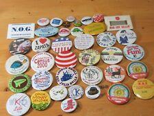 Vintage Lot Assortment 39 Pinbacks Pins Buttons