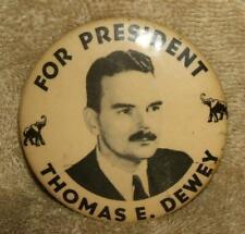1944 Thomas E. Dewey Presidential Campaign Button