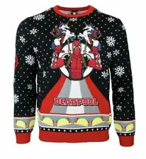 Marvel Deadpool The Snow Knitted Christmas Sweater US 2XS