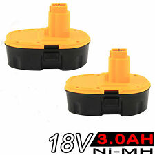 2x 18V 3.0AH NI-MH Battery For Dewalt DC9096 DE9095 DE9096 DE9099 DW9096