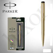 GENUINE PARKER VECTOR GOLD GT BALLPOINT PEN - GOLD - BLUE INK - NEW - ORIGINAL