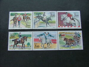Sweden 1990 World Equestrian Games Issue SG1515-1520 MNG