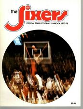 1977-78  NBA Basketball Yearbook Magazine, Philadelphia 76ers, Julius Erving ~VG