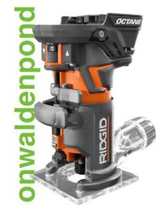 RIDGID OCTANE R860443B 18-VOLT 18V COMPACT BRUSHLESS FIXED BASE ROUTER TOOL NEW