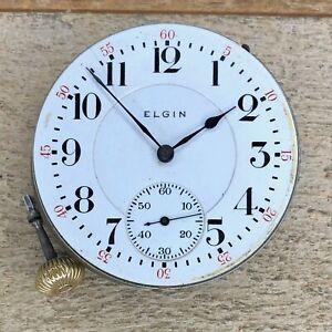 16s Elgin Pocket Watch Movement - Grade 375 Veritas - 21 Jewels, 5 Positions