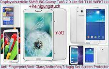 "3 x Kristall Klar Display Schutz Folie Samsung Galaxy Tab 3 Lite 7.0"" Kratzfest"