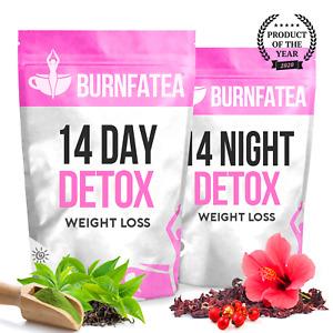 BURNFATEA 14 DAY DETOX TEA KIT - WEIGHT LOSS, DIET SLIMMING TEA, BURN FAT TEA