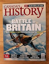 Canada's History Dec 2015 - Jan 2016; Battle of Britain; Inuit Explorer; Sorcery