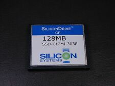 SSD-C12MI-3038 Silicon Systems 128 MB CompactFlash Memory Card Compact Flash CF