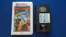 Vintage Disney Clamshell White VHS Mary Poppins Tape Movie first issue