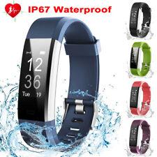 Smartwatch Armband Handy Pulsuhr Schrittzähler Sport Fitness Tracker Blutdruck