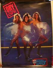"""Vintage 1989 Old Style Umbrella Sexxy Girls 19 x 24"""" Poster Dry Yourself Off"""