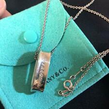 Tiffany & Co. Oval Loop Hoop Necklace Sterling Silver 1837 Pendant Excellent+ 3