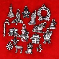 Tibetan Silver XMAS Christmas Theme Charm Pendant Finding Bead Jewellery Making
