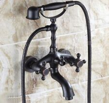 Bathroom Plumbing Oil Rubbed Bronze Clawfoot Tub Faucet With Hand Shower ftf701