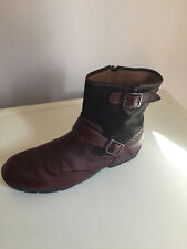 MEN LEATHER BROWN CLARKS CHELSEA ANKLE BOOTS SIZE 7G