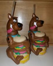 Set of 2 Scooby Doo talking sippy cups 10.5 inches 12 oz drink