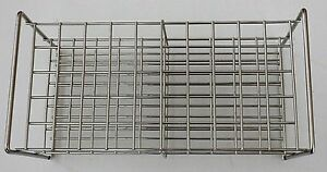 Stainless steel wire frame test tube rack 50 tubes 20 mm autoclavable lab stand