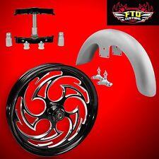 "23 inch Big Wheel Kit, Wheel, Tire, Rotors,Triple Tree, & Fender ""Predator"""