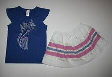 New Gymboree Glam Kitty Tee Top & Sparkle Skirt Size 7 Desert Dreams Line Outfit
