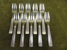 10 fourchettes à gateaux métal argenté art deco dixi (pastry forks)