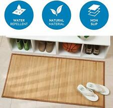 "Non-Skid Waterproof Natural Bamboo Floor Mat Runner Rug for Kitchen Hall 21""x34"""