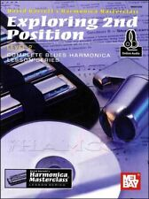 Exploring 2nd Position for Harmonica Music Book/Audio Method SAME DAY DISPATCH