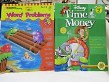 Lot Set of 2 Disney Learning Time and Money McGraw Hill Word Problems Grade 2