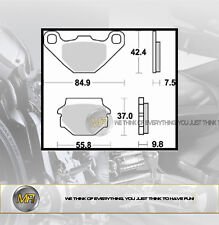 PER KTM SX 125 1993 COPPIA PASTIGLIE FRENO POSTERIORI BRAKING SEMI METALLICHE
