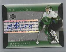 2005-06 Trilogy Hockey Marty Turco Scripts Two Autographed Card (CSC)