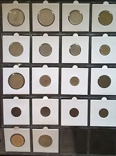 Estonia 1st Republic Lot of Old 15 Different Coins, incl. 3 silver, Lion Leopard