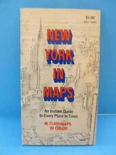 Vintage 1969 New York City Flash Map NYC Guide Telephone # Address Disco Museums