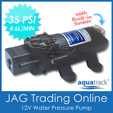 12V WATER PRESSURE PUMP & SWITCH 4.6L/MIN 35 PSI - Galley/Sink/Caravan/Boat/RV