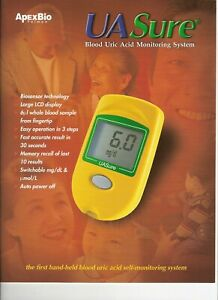 Uric Acid Gout Monitoring Starter Kit, with 25 Box of Strips