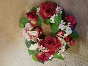 Wreath - 14 Inch - Touch Of Class - Red, White and Pink