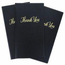 10 Restaurant Guest Check Card Holder Presenter Gold Thank You Imprint 10x55
