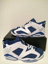 New Nike Air Jordan VI 6 Retro Low Seahawks White Blue Green Size 9 304401 106