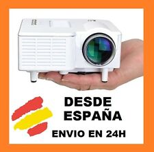 Mini Proyector de LED HDMI, USB, SD,VGA, A/V, Reproduce Video Full HD 12v y 220v