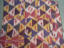 "Antique Central Asian oriental silk ikat   (approx; 5ft.7"" x 3ft.7"" )"