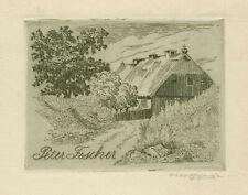 Ex libris Original etching ART DECO by OTTO EHRHARDT (1865-1942) Germany
