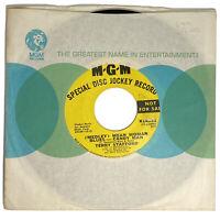ROCK N ROLL 45 rpm TERRY STAFFORD Promo MEDLEY: MEAN WOMAN BLUES-CANDY MAN