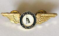 Alaska Airlines Employee Wings Flight Attendant Pin Badge Rare Vintage (G7)