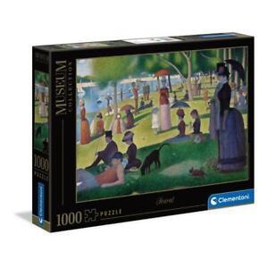 puzzle Clementoni 1000 pezzi SEURAT SUNDAY AFTERNOON ISLAND GRANDE JATTE 39613