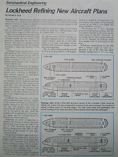 3/1977 ARTICLE 3 PAGES LOCKHEED REFINING NEW AIRCRAFT PLANS L-1011-400A TRISTAR