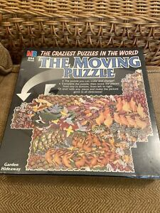 The Moving Puzzle Garden Hideaway 294 Pieces sealed MB Games