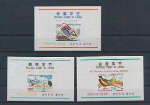 LN23557 Korea imperf animals fauna flora birds sheets MNH