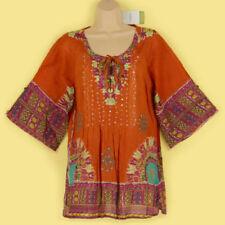 Boho Cotton Tunic, Kaftan Tops & Shirts for Women