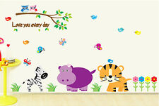 New Jungle Animal Wall decal Vinyl Removable stickers Decor Kids Nursery art 03