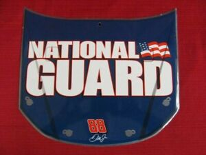 VTG Dale Earnhardt Jr 88 NASCAR Racing Car Hood Sign National Guard