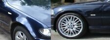 BMW E46 serie 3 Coupé 98-03 delantero par de alas Orient Azul 317 Nuevo